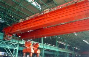 Over-length Electromagnetic Overhead Crane with Carrier-beam