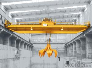 QZ Overhead Crane with Grab Cap.2-20T,high-frequency quenching,thermal refining