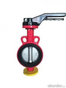 China Butterfly Valve Cast Iron Resilient Seat