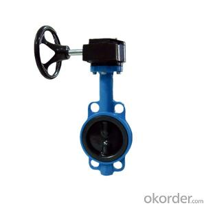 Gear Type Butterfly Valve Cast Iron Resilient Seated