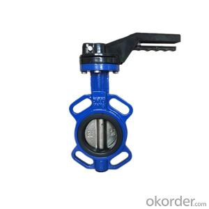 Ductile Iron Butterfly Valve Wafer Type