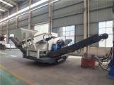 Moving crushing station, mobile crushing plant with Crawler