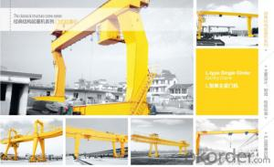 L Type Single Girder Gantry Crane with Hook Cap.5~32/5T,anti-sway system