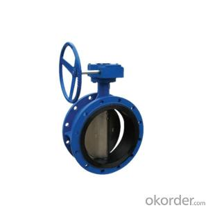Double Flanged Type Butterfly Valve Rubber Seal 10 Inch