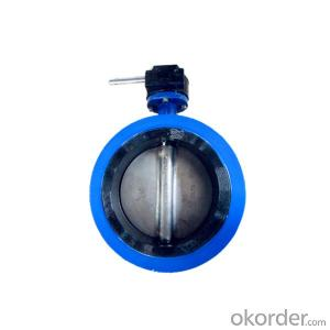 Flanged End Butterfly Valve Gear Type 6 Inch