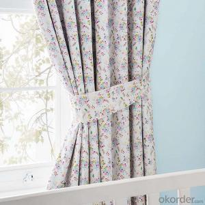 Floral Blackout Pencil Pleat Curtains for livingroom