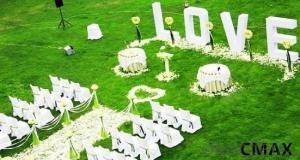 Wedding site artificial grass