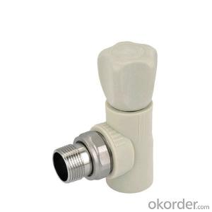 PP-R Stop Valve with Elbow Made by a Chinese Leading Factory