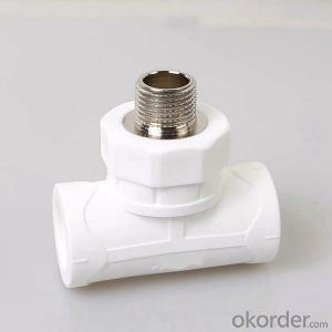 Plastic PPR Pipe Fitting Female Threaded Tee  with high quality(grey&white)
