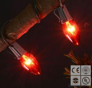 Red C7 LED Bulb Light String for Outdoor Indoor Wedding Festival Party Decoration
