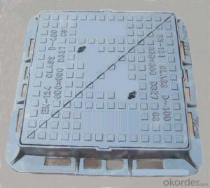 Ductile Iron Manhole Cover C250 and D400 for Construction