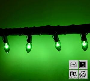 Green C7 LED Bulb Light String for Outdoor Indoor Wedding Christmas Party Decoration