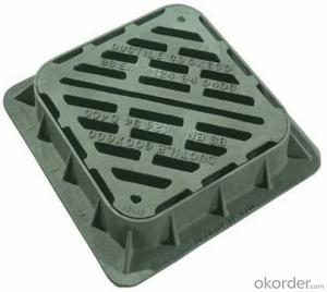 Ductile Iron Manhole Cover with Square and Round Designs