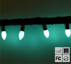 Baby Blue C7 LED Bulb Light String for Outdoor Indoor Wedding House Garden Decoration