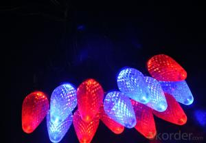 Colorful C9 Incandescent Bulb Light String for Outdoor Indoor Wedding Christmas Garden Decoration