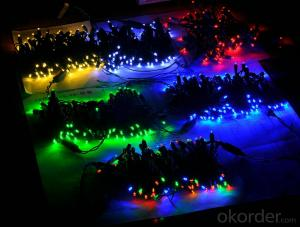 Colorful 5MM Wide Angle Led Light String for Outdoor Indoor Wedding Christmas Party Decoration
