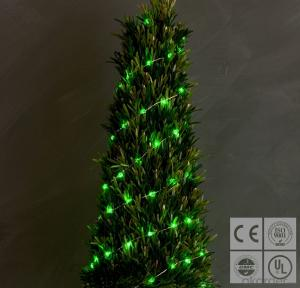 Green Christmas Tree Copper Wire String for Outdoor Indoor Party Christmas Festival Decoration