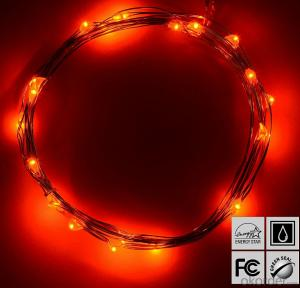 Red Copper Wire String Lights for Outdoor Indoor Holiday Logo Garden Decoration