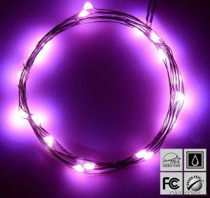 Pink Copper Wire String Lights for Outdoor Indoor House Christmas Garden Decoration