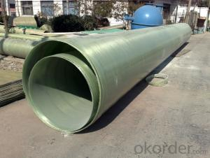 Large diameter underground frp grp gre pipes for oil