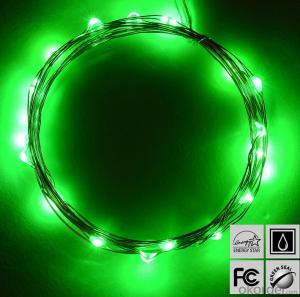 Green Copper Wire  Led Light String for  Christmas Festival Decoration