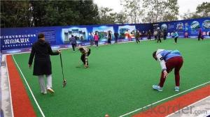 --Gate ball court artificial grass uesd in playground
