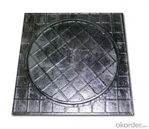 Ductile Iron Manhole Cover with Square or Round Heavy Duty  EN124