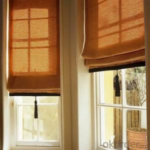 Bamboo Blinds with Chinese Style Window Curtains