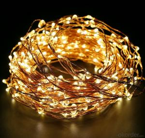 Colorful Copper Wire Led Light String for Outdoor Indoor Holiday Decoration