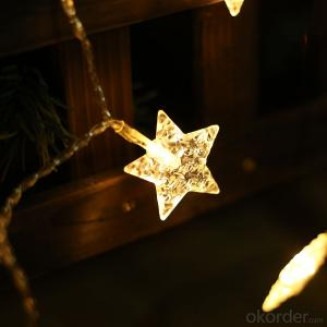 Star-shaped Copper Wire Led Light String for Holiday Decoration