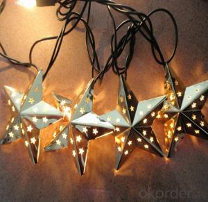 Metal Star Light String LED Light String for Outdoor Indoor Christmas Bar Roof Decoration