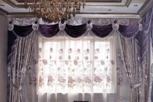 vertical print flowers roman curtain for light adjustion