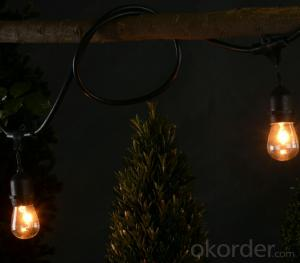 Warm White S14 Incandescent Bulb Light String for Outdoor Indoor Garden Party Festival Decoration