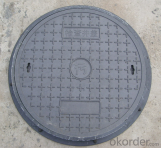 Ductile Iron Manhole Cover C250 and B125 with Different Sizes
