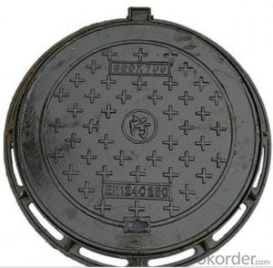 EN124 A15 C/O600mm Cast Ductile Iron Manhole Covers
