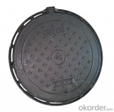 Ductile Iron Manhole Cover with EN124 D400 in China