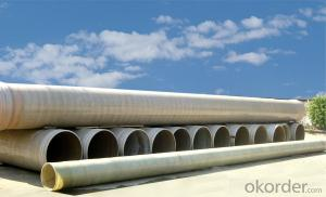 GRP FRP pipe fittings fiberglass winding Pipe for sale