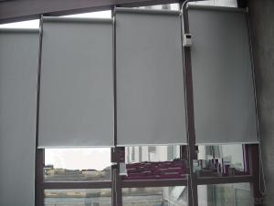 Manually operated blackout roller blinds