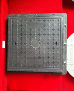 Municipal OEM Square Ductile Iron Manhole Cover with Locking