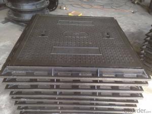 Suare High Tensile EN124 Ductile Cast Iron Manhole Cover