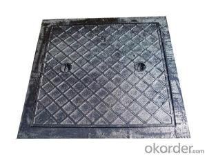 Square Frame/Circular Ductile Cast Iron Material Manhole Covers