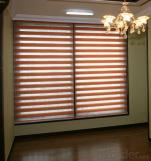 Zebra Print  Wood Roller Blinds Window Shades