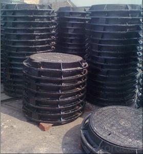Ductile Iron Sewer Round Manhole Cover Cast Iron Manhole Cover EN124 B125