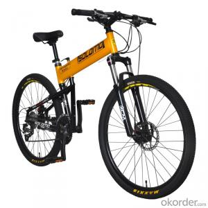 Mountain Folding Bike Aluminum Alloy Frame 26 Inch 27 Speed Shimano Gear Box Wholesale Bicycle