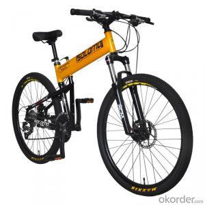 Mountain Folding Bike Aluminum Alloy Frame 26 Inch 27 Speed Shimano Gear Box Wholesale Bicycle