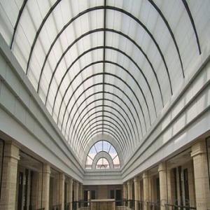 Semicircular Ceiling Curtain for Top Floor Skylight Shading