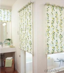 roller blind with color coated 100% blackout fabric with color coated 100% blackout fabric