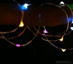 Colorful Copper Wire Led Light String for Outdoor Indoor Stage Holiday Party Garden Decoration