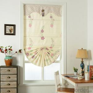 roman curtain with 100% polyester for windows