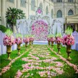 Wedding site decorative artificial turf